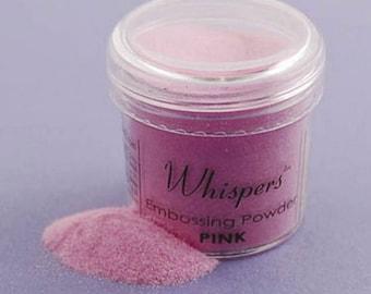 Whispers Embossing Powder - Pink - 1 Oz