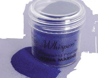 Whispers Embossing Powder - Blue - 1 Oz