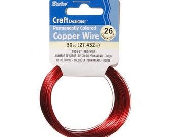 Craft Wire - 26 Gauge - Red - 30 yards – 3958-67