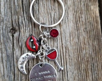 True Blood Inspired Charm Keychain