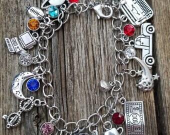 Smallville inspired charm bracelet