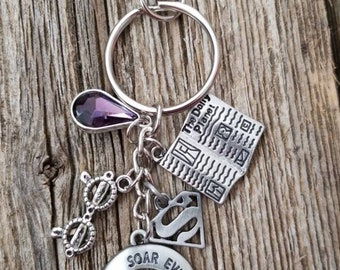 Clois inspired charm keychain