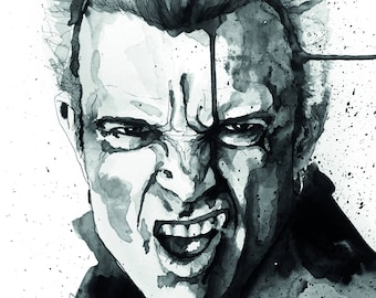 Billy Idol deluxe postcard print
