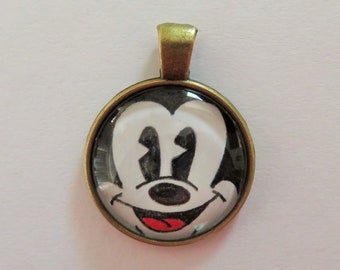 Mickey Mouse Pendant (available in bronze or silver plating)