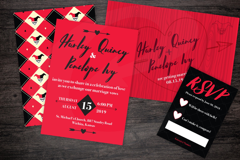 Harley Quinn Themed DYI Printable Wedding Invite | Etsy