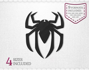 Spiderman Logo Spider Embroidery Machine Design