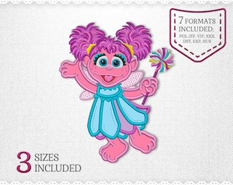 Abby cadabby embroidery design etsy abby cadabby fairy sesame street applique design for embroidery machine 3 sizes instant download maxwellsz