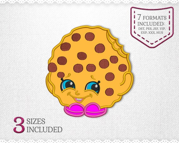 Shopkins Kooky Cookie Applique Design For Embroidery Machine Etsy