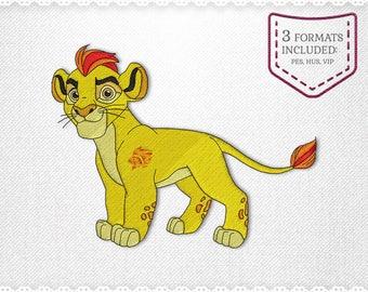 Lion de garde Kion broderie Machine Design - téléchargement immédiat