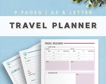 travel planner etsy
