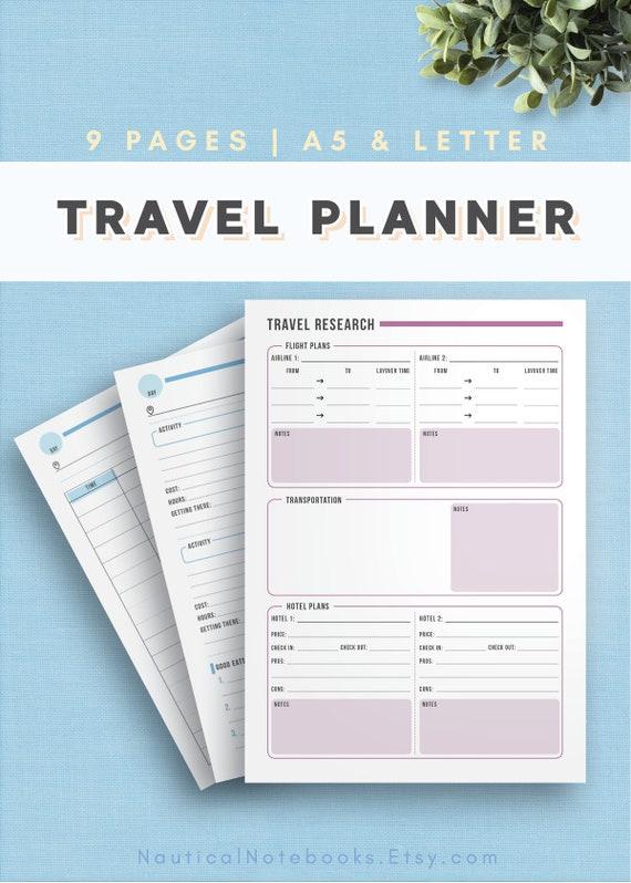 Reise-Kalender Einlagen Urlaub Planer Kit Urlaub Reise | Etsy