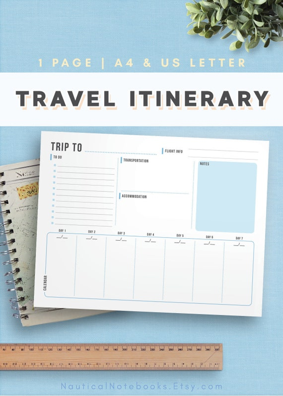 travel itinerary template family travel planner printable etsy