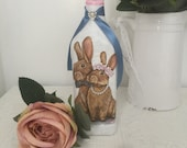 Decorative Vase Recycled Bottle Bunny Vintage Bottles