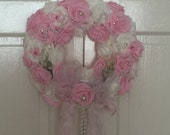 Roses and Pearls Romantic Wreath Door Wreath Floral Wreath Decorative Wreath
