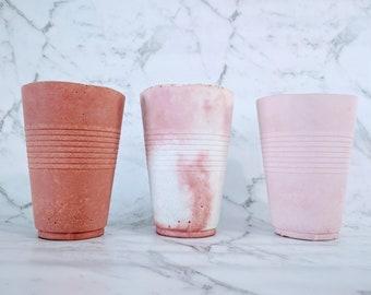 Toothbrush Holders - Minimalist Decor Toothbrush Cup - Hypertufa Concrete Bathroom Accessories - Housewarming Gift Make-up Brush Holder
