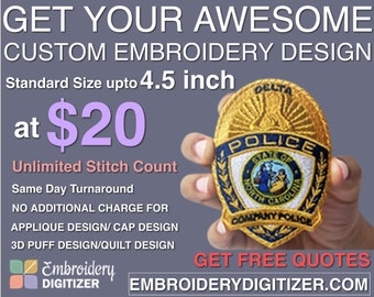 Custom Embroidery Digitizing - Top Notch Quality from Professionals  Digitizers 4f8204a8e6e7