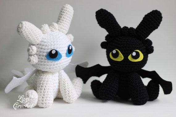 Toothless Dragon (Night Fury) pattern in PDF | Crochet dragon ... | 380x570