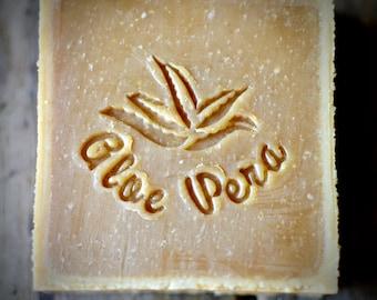 Aloe Vera Soap Stamp, Aloe Vera Soap, Soap Stamp, Acrylic Soap Stamp, Custom Soap Stamp, Stamp for Soap