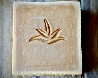 Aloe Vera Soap Stamp, Custom Soap Stamp, Soap Stamp, Acrylic Soap Stamp, Stamp for Soaps