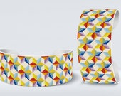 Square Loom Bracelet eed bead pattern of rainbow color stars  | Do It Yourself