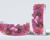 Peyote Even Count and Square |  Flowers Blossom Bracelet Pattern for Miyuki Delica size 11/0 seed beads | Do It Yourself