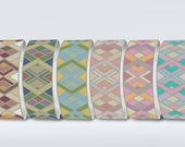 Peyote Uneven Count Pattern | Set of 6 colored bracelets for Miyuki Delica 11/0 seed beads | Do It Yourself