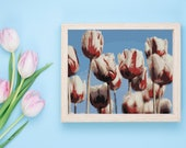Peyote Painting Seed Bead pattern Tulips  | Do It Yourself