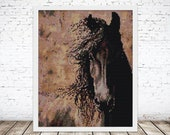 Peyote Painting Seed Bead pattern Vintage Horse Brown | Do It Yourself