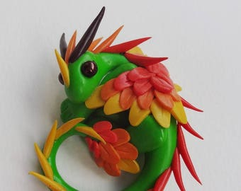 Autumn Dragon fimo polymerclay