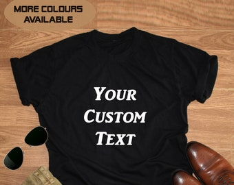 d66a0695f Men's Personalised Custom T-Shirts , Your Text, Logo or Photo, Men Customized  T shirt, Gifts Made to Order, Personalized Tshirts