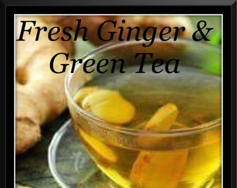 Fresh Ginger & Green Tea Soy Wax Melts - Hand Poured