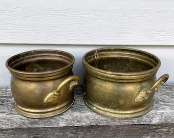 Brass Planters, Containers, Vintage, Home Decor, Antique, Farmhouse Style
