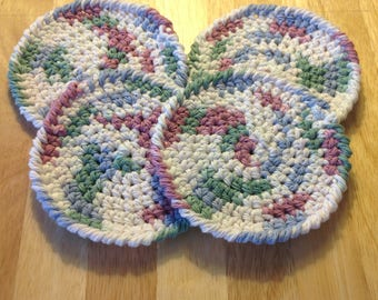 Crochet coasters, Drink coasters, Cotton coasters, Set of coasters, Cotton crochet coasters, Handmade coasters, Crochet gifts