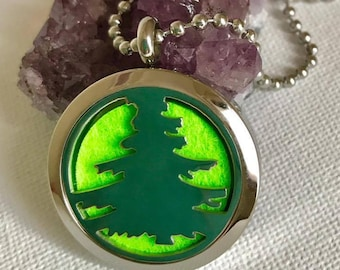 Christmas Tree diffuser pendant aromatherapy oil, diffuser pendant essential oil locket, purfume locket,christmas gift