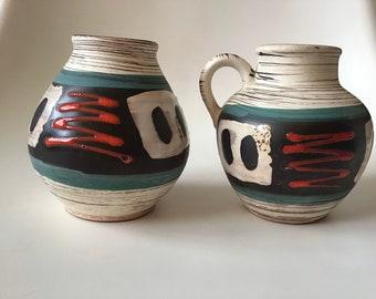 German Pottery Floral Oblong Platter  # T.13-36 Carstens W