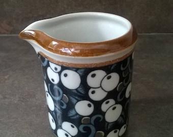 Arabia Finland ceramic Taika milk jug. Design: Inkeri Leivo from the years 70