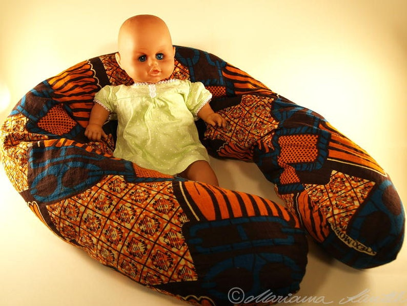 Breastfeeding pillow  cover in current Afrostil image 0