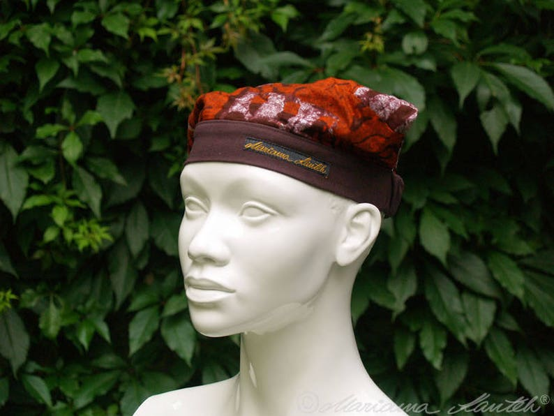 Bandana hat mini headscarf with elastic band image 0