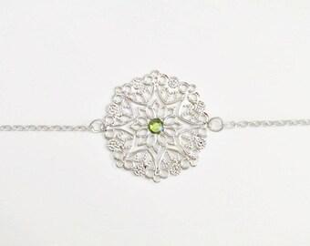 Boho chic bracelet silver plated