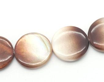 1 Pearl puck Brown Pearl 20 mm