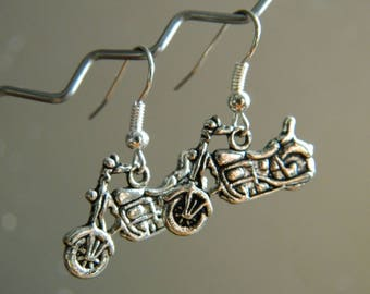 Motorcycle metal earring