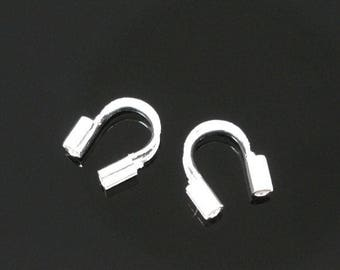 lot 20 Protections to thread Cable silver 5x5mm