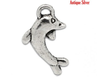 1 11 * 19 mm metal Dolphin charm