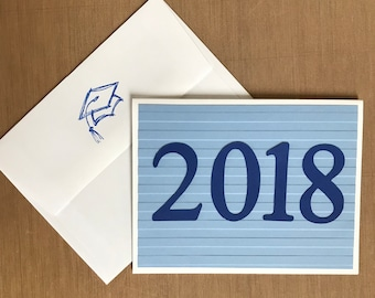 2018 Graduation Cards 4 Pack