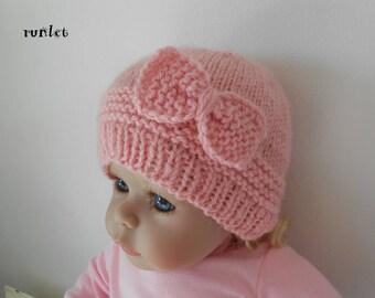 bonnet naissance rose,bonnet bébé laine noeud bonnet bebe fille bonnet  nouveau né,bonnet bébé cadeau bébé fille bonnet bébé tricot c002872f5db