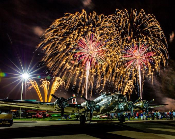 B-17 Fireworks