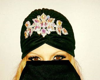 Turban for women,Turban hat,Hair Turban,Rhinestone Swarovski