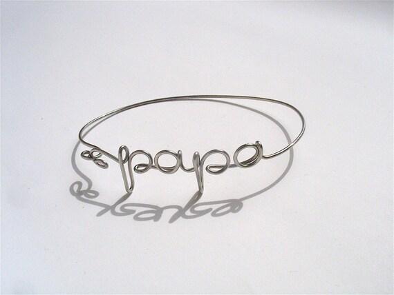 Bracelet Message PapaEtsy À Homme Bracelet 2IE9YHWD