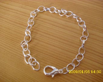 customized 20 cm silver-plated chain bracelet