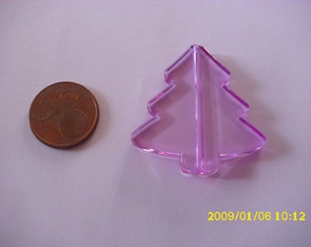 1 Pearl Christmas tree Christmas purple 3.9X4.1 cm 1.9 mm hole